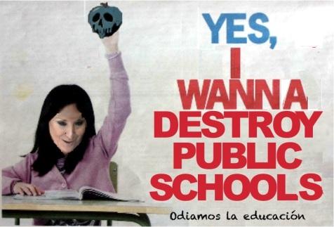 Contracampaña de matriculación en la Escuela Pública